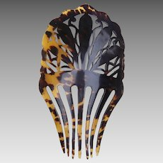 Faux tortoiseshell hair comb Spanish mantilla style hair accessory