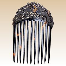 Natural tortoiseshell hair comb Chinese export hair accessory