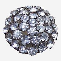 Late Victorian rhinestone encrusted spherical hatpin (ABZ)