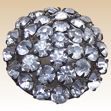 Late Victorian rhinestone encrusted spherical hatpin (ABZ)