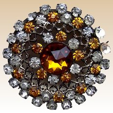 A handsome rhinestone late Victorian hat pin (ACE)