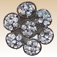 A handsome rhinestone late Victorian hat pin (ACF)