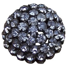 A handsome rhinestone late Victorian hat pin (ACK)
