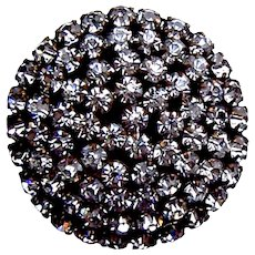 A handsome rhinestone late Victorian or Edwardian hat pin (ACL)