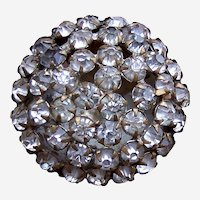 A handsome rhinestone late Victorian or Edwardian hat pin (ACM)