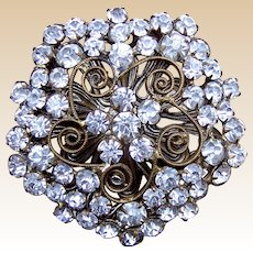 Handsome rhinestone encrusted late Victorian hat pin (ACN)