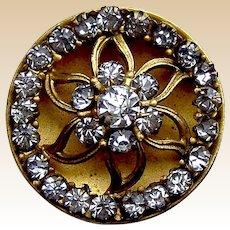 Handsome rhinestone late Victorian hat pin (ACO)