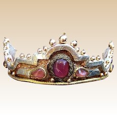 Medaeval style theatrical crown, coronet or costume headpiece by Martin Adams