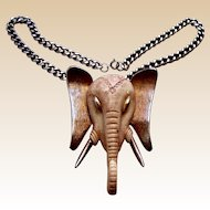 Large Razza Elephant pendant necklace