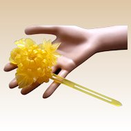 A handsome Japanese kanzashi style hair pin amber resin hair accessory