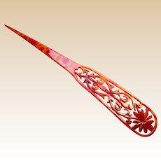 Late Victorian hair pin or dagger hair accessory