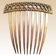 Regency fire gilded hair comb Georgian decorative hair accessory