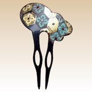 Japanese kanzashi hair comb Geisha hair accessory