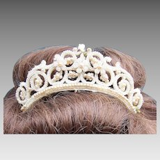 Late Georgian seed pearl tiara hair accessory