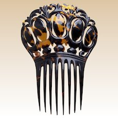Victorian faux tortoiseshell hair comb Spanish style hair accessory