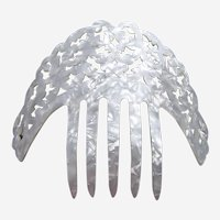 Spanish mantilla style hair comb in mother of pearl effect hair accessory (ABC)