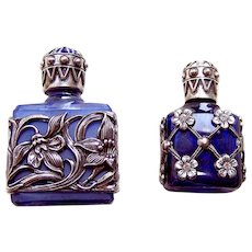Two Czech miniature scent or perfume bottles suitable dolls (AAE)