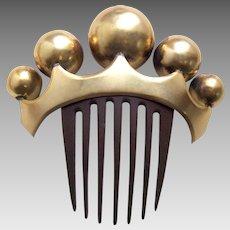 Mid Victorian hair comb classic big balls design hair ornament