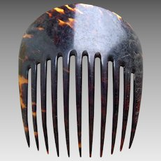 Victorian natural tortoiseshell hair comb classic design hair ornament