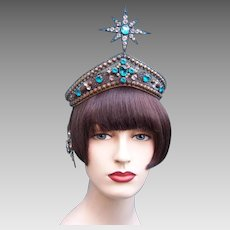 Art Deco Oriental Egyptian Revival headdress Arabian Nights hair accessory