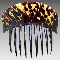 Victorian natural tortoiseshell hair comb Spanish style hair ornament