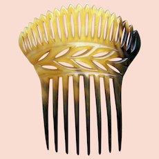 Victorian steer horn hair comb Spanish mantilla style hair accessory