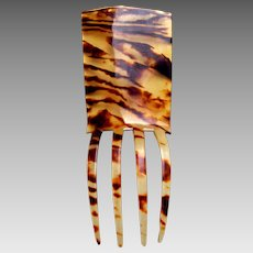 Late Victorian faux tortoiseshell hair comb Spanish style hair accessory