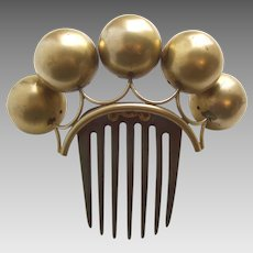 Victorian hair comb classic hinged big balls tiara style hair accessory