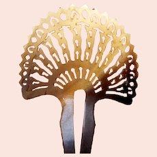 Steer horn hair comb sunray design hair accessory