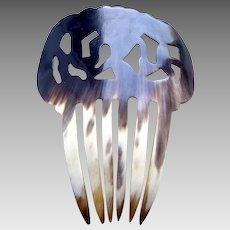 Spanish mantilla style hair comb natural steer horn hair accessory