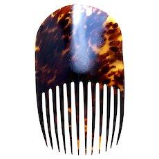 Victorian hair comb classic Spanish style natural tortoiseshell hair accessory