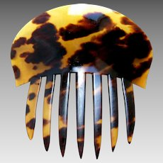 Victorian hair comb classic natural tortoiseshell hair accessory