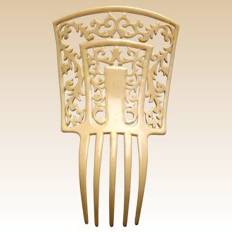 Art Deco hair comb Spanish style French ivory hair ornament
