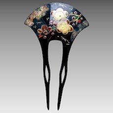 Vintage Japanese hair comb hair pin kanzashi geisha hair accessory (AGS)