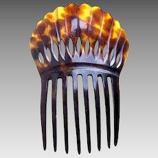 Victorian steer horn hair comb Spanish mantilla style hair ornament