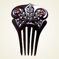 Miniature or doll hair comb celluloid Spanish style hair accessory
