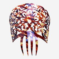 Spanish mantilla style hair comb with classic openwork design hair ornament
