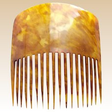 Early American hair comb clarified steer horn classic style hair accessory (AAI)