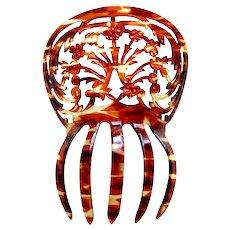 Spanish mantilla style hair comb classic openwork hair ornament