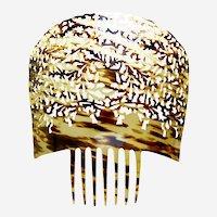 Oversized Spanish mantilla style hair comb classic openwork design hair ornament
