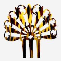 Art Deco hair comb Spanish style faux tortoiseshell hair ornament
