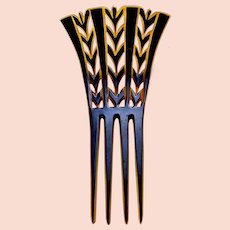 Art Deco hair comb two toned Spanish style hair accessory