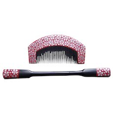 Vintage Japanese hair comb hair pin set geisha hair accessories (AHB)