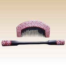 Vintage Japanese hair comb hair pin set geisha hair accessories (AHB)