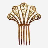 Art Deco Spanish style rhinestone hair comb celluloid hair accessory