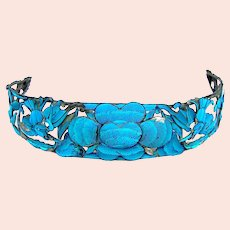 Chinese kingfisher feather tiara or bandeau headpiece