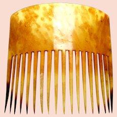 Early Americana hair comb steer horn classic hair accessory