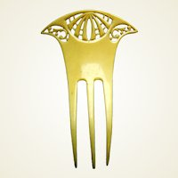 Art Nouveau hair comb French ivory Spanish style hair ornament