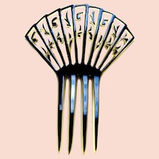 Art Deco hair comb celluloid overlay hair ornament