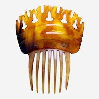 Steer horn hair comb Victorian Spanish style hair accessory
